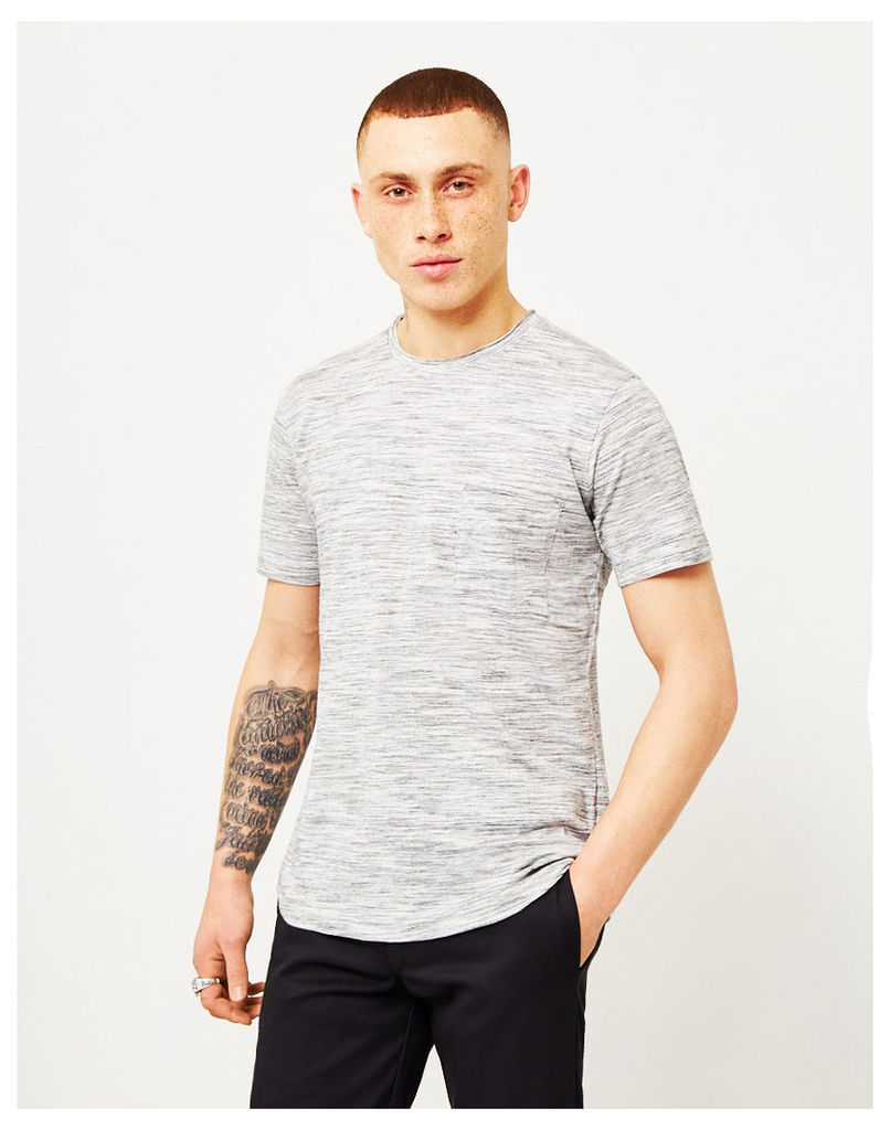 The Idle Man Space Dyed T-Shirt White