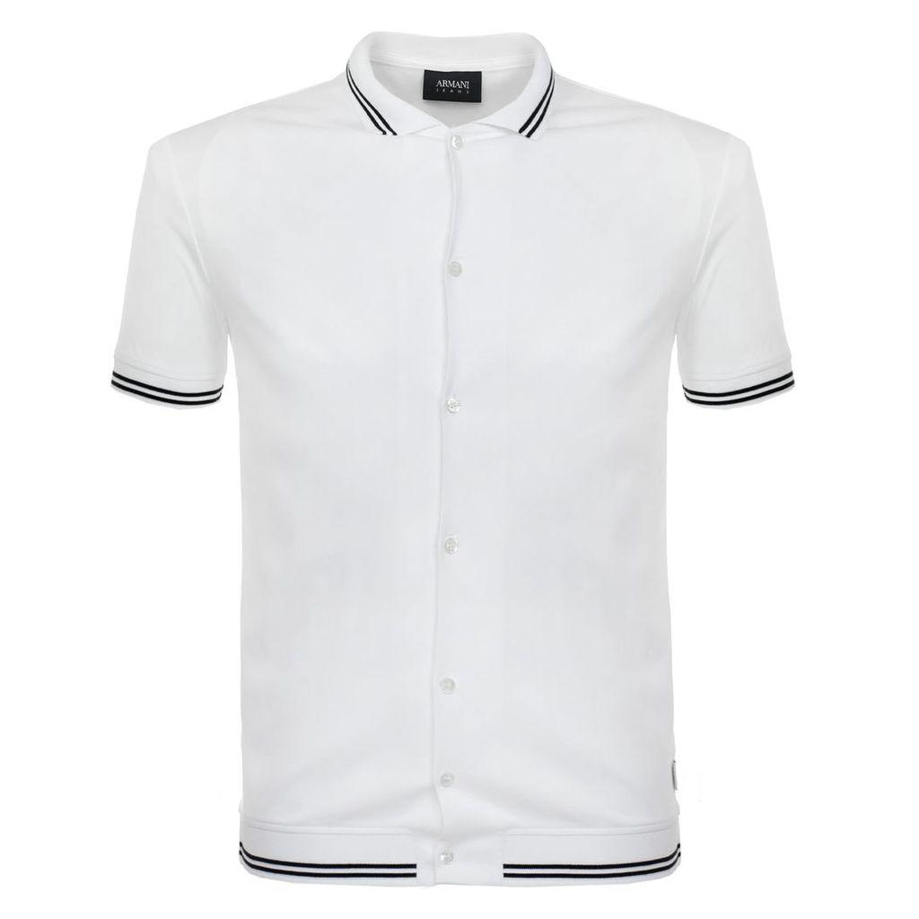 Armani Jeans Bianco Ottico Polo Shirt 3Y6F23