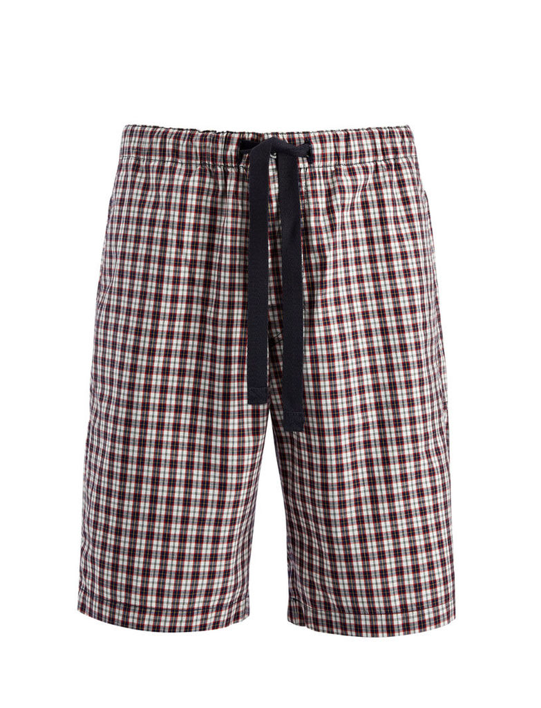 Check Shirting Abington Shorts in White