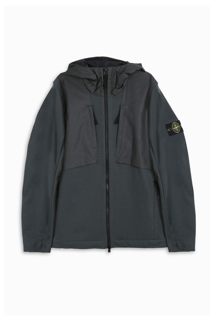 Stone Island Men`s Terry Soft Shell Hooded Jacket Boutique1