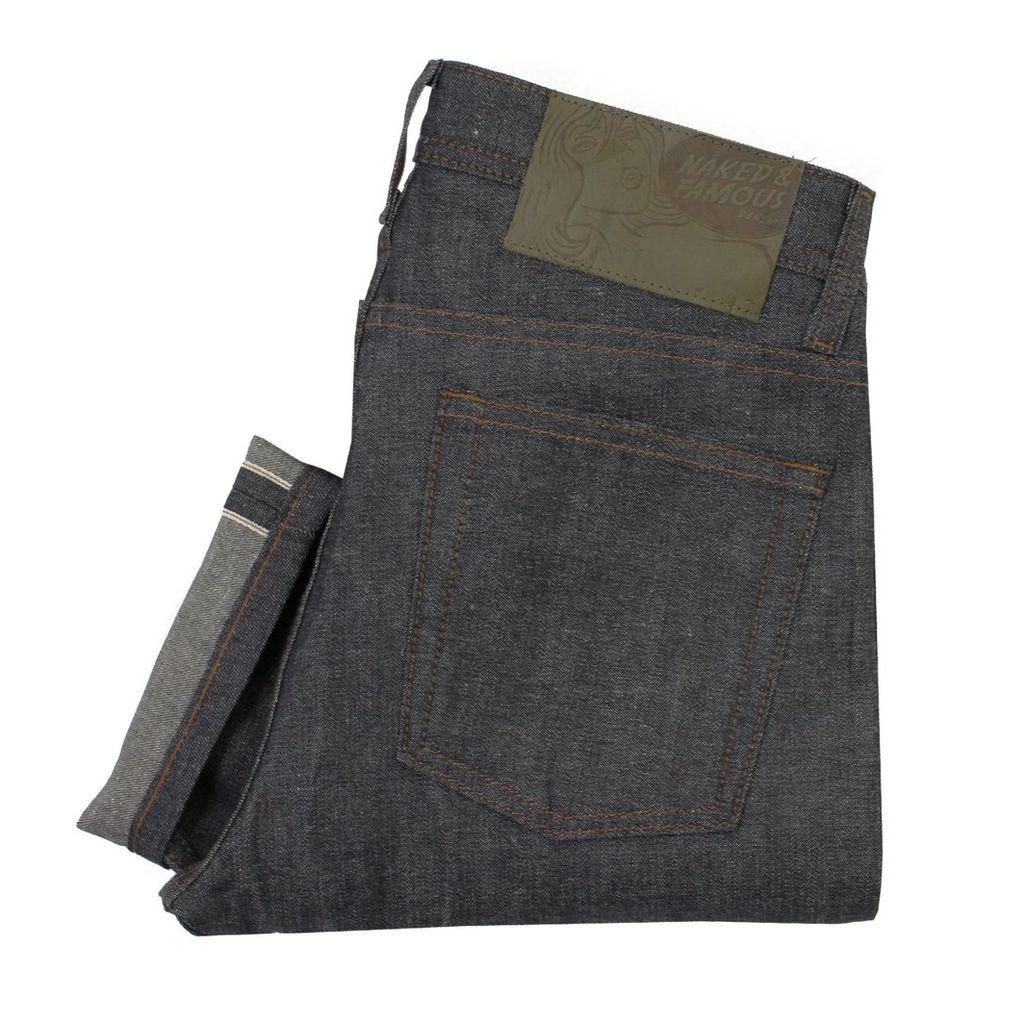 Naked and Famous Weird Guy Hemp Blend Selvedge Denim Jeans