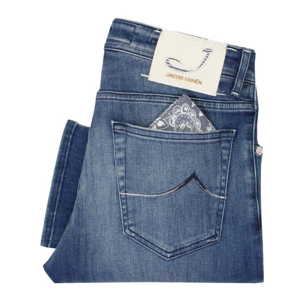 Jacob Cohen J622 Mid Blue Denim Jeans