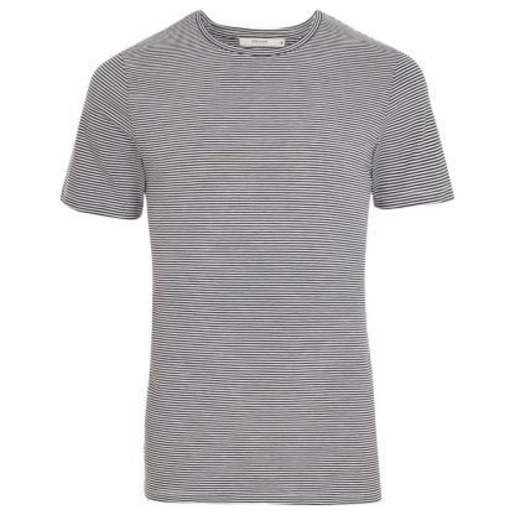 River Island Mens Navy Jack & Jones Premium stripe T-shirt