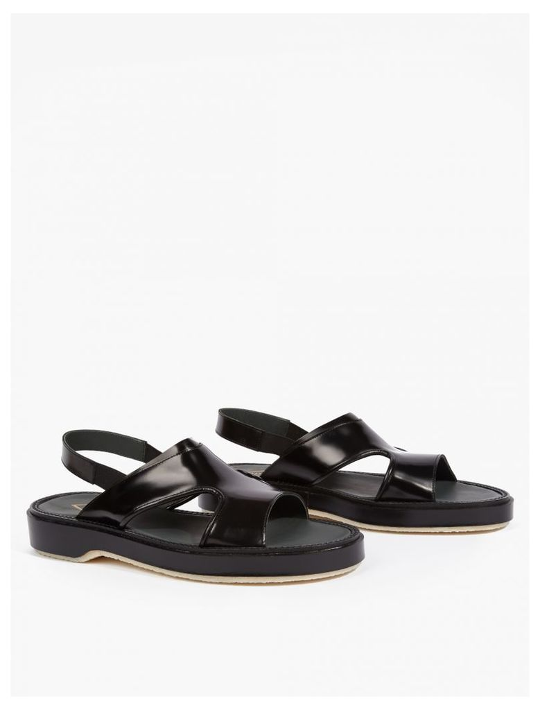 Black Leather Type 43 Sandals