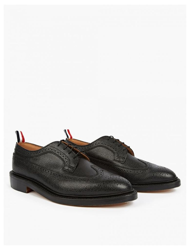Black Pebblegrain Leather Brogues