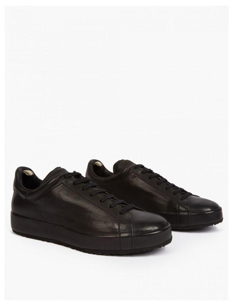 Black Leather Serrano Sneakers