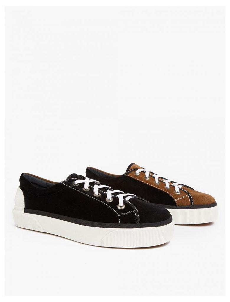 Contrasting Suede Sneakers