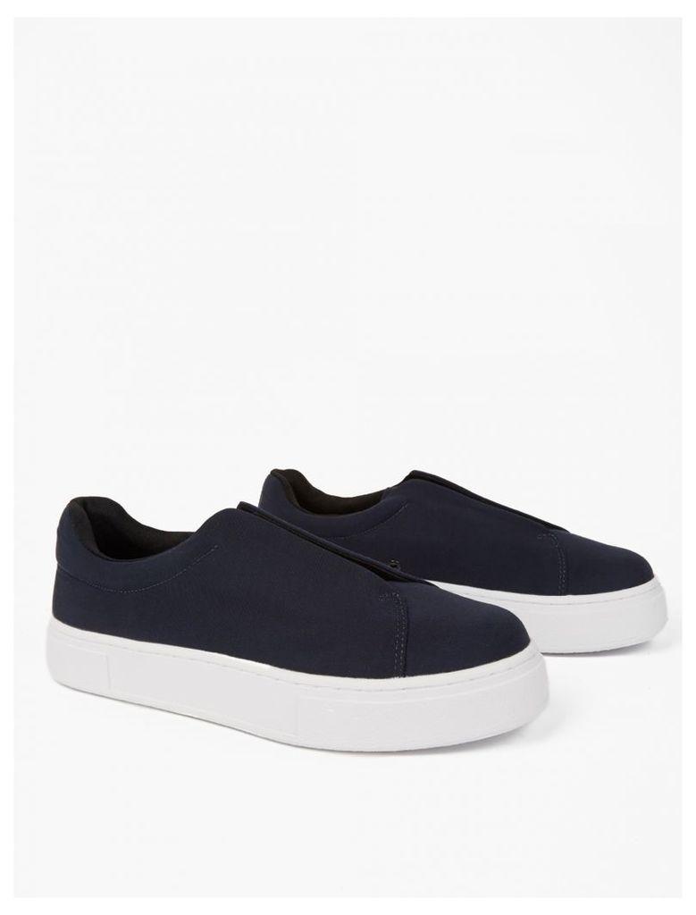 Navy Nylon Doja Sneakers