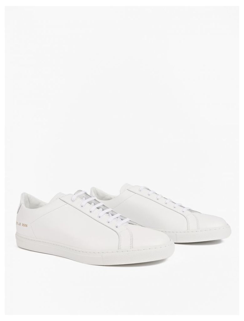 White Leather Retro Low Sneakers
