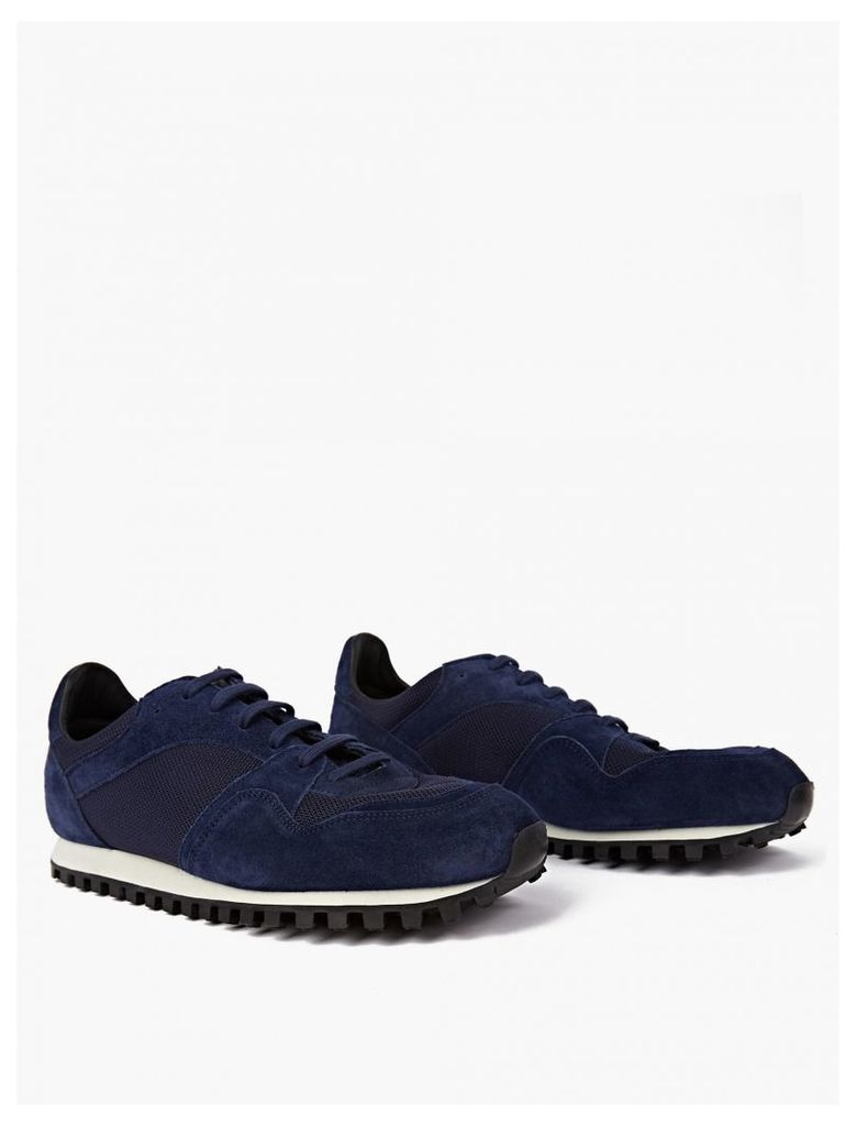 Midnight Blue Suede Marathon Trail Sneakers