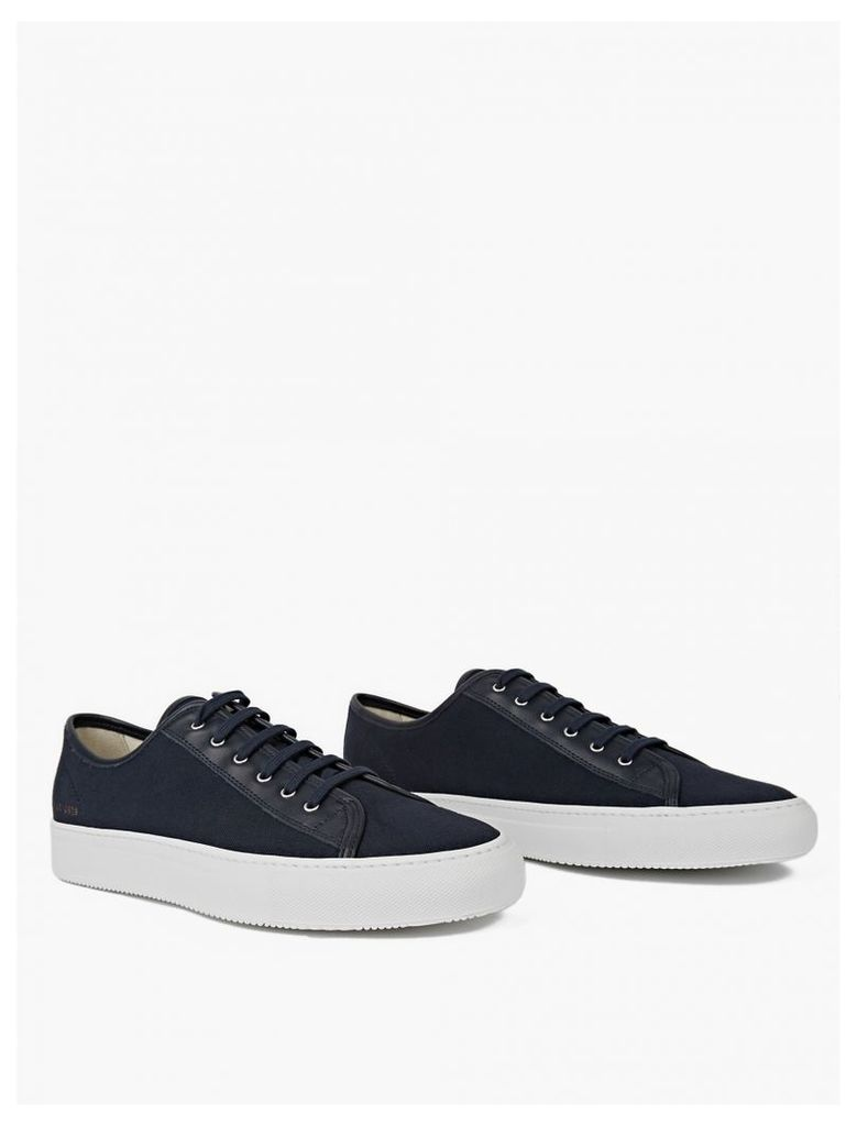 Navy Tournament Four Hole Canvas Sneakers