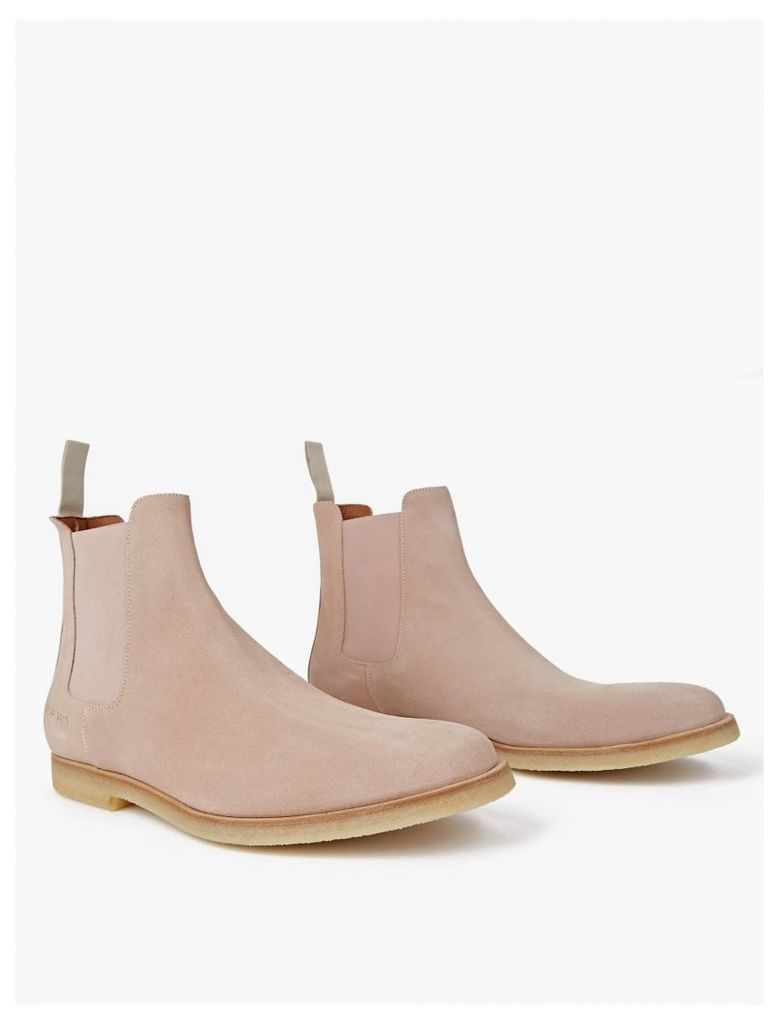 Blush Suede Chelsea Boots