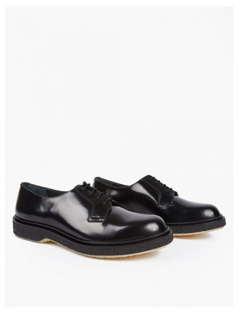 Black Leather Type 78 Derby Shoes