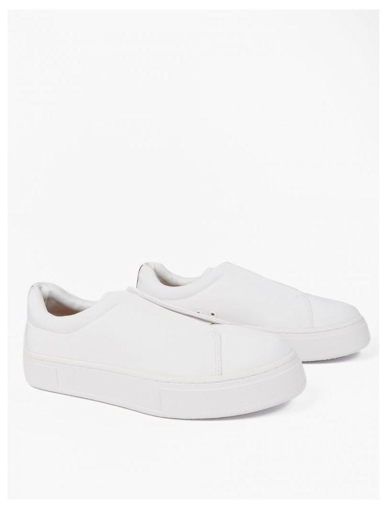 White Nylon Doja Sneakers