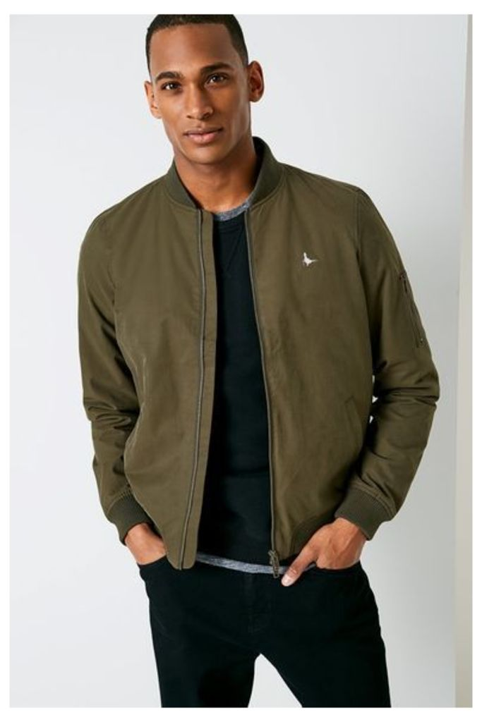 RAME COTTON BOMBER OLIVE