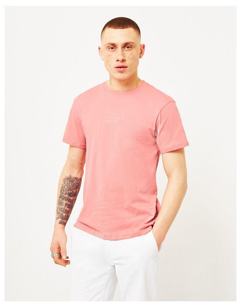 HUF Overdye Bar Logo T-Shirt Pink
