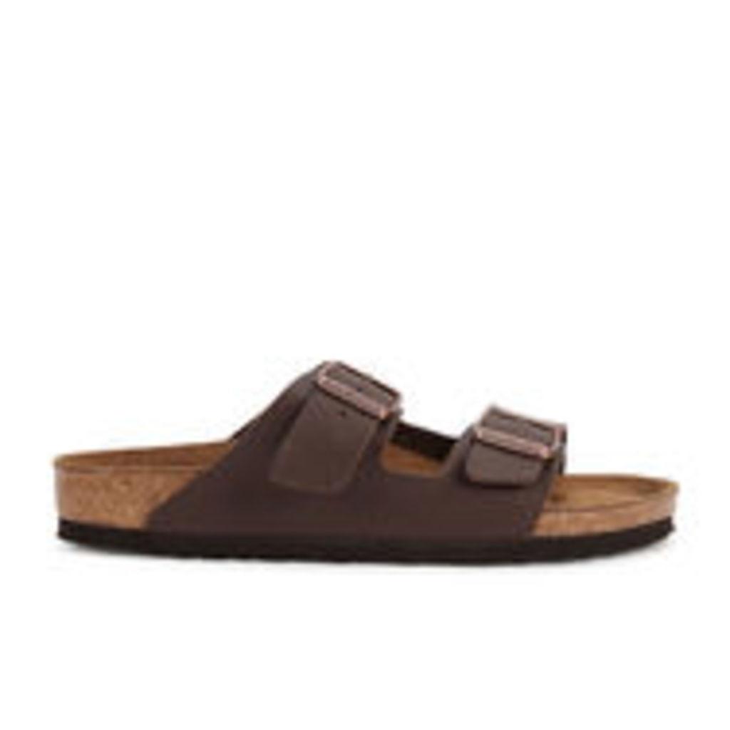 Birkenstock Men's Arizona Double Strap Sandals - Dark Brown - UK 7