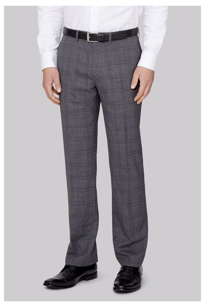 Moss 1851 Italian Tailored Fit Grey Prince of Wales CheckTrousers