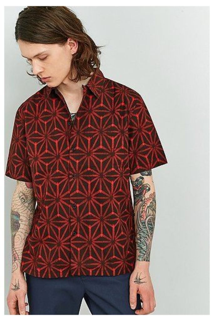 Nudie Jeans Brandon Red Short-Sleeve Shirt, Red