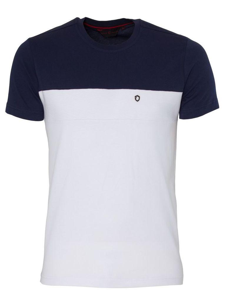 Mens Eto Tshirt Royal White/Grey
