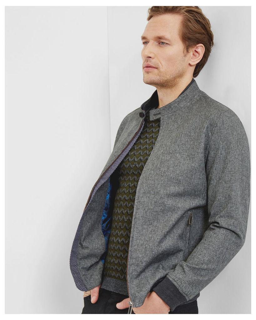 Ted Baker Mouliné bomber jacket Grey