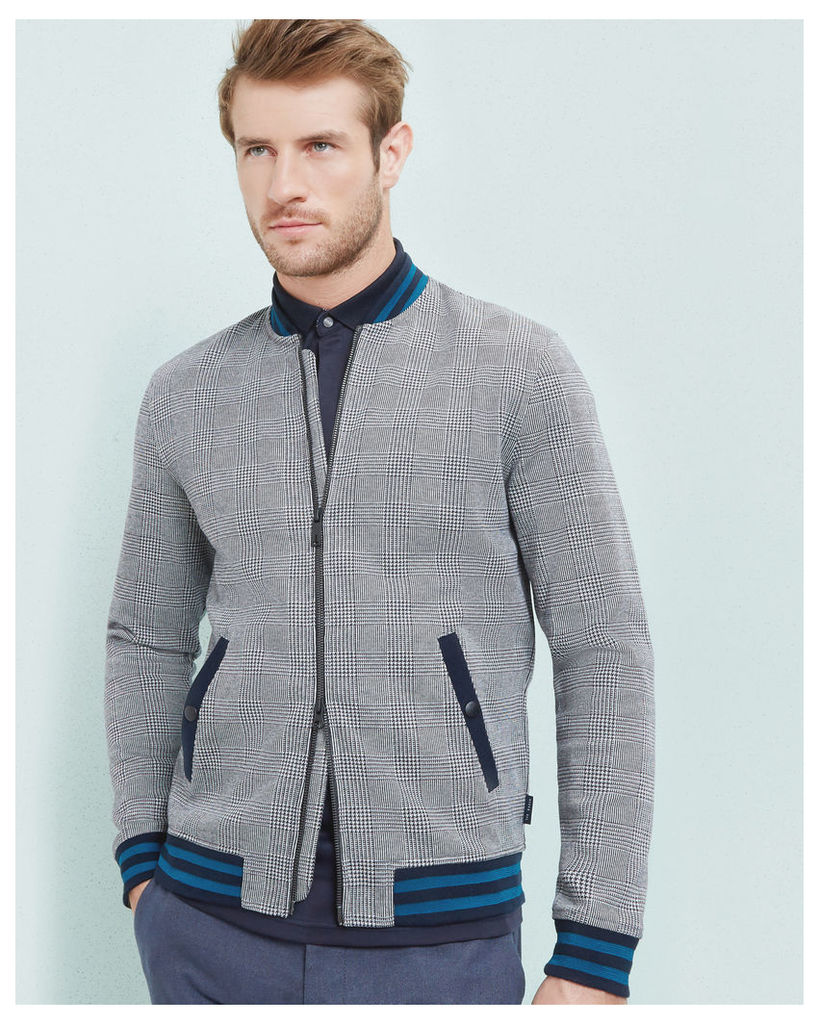 Ted Baker Checked bomber jacket Grey
