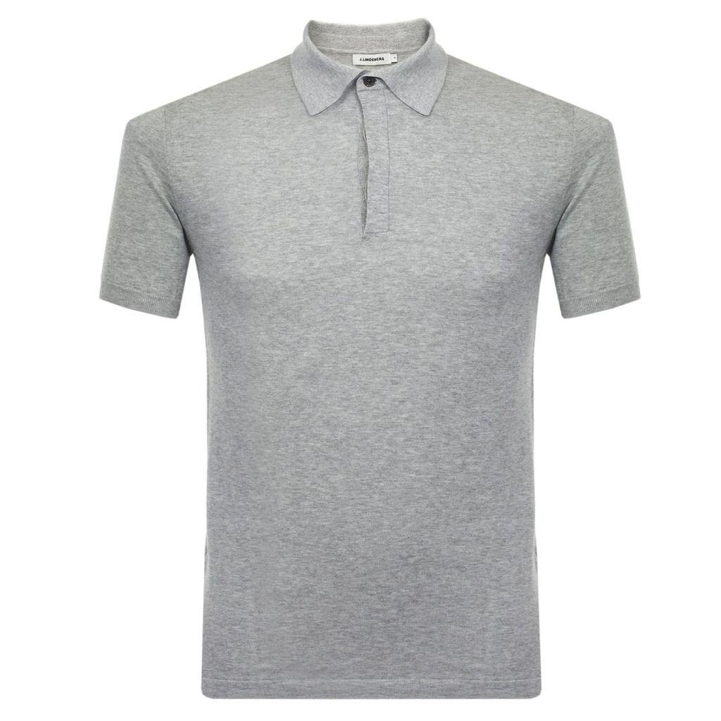 J Lindeberg Mikael Grey Polo Shirt 73MC720587024