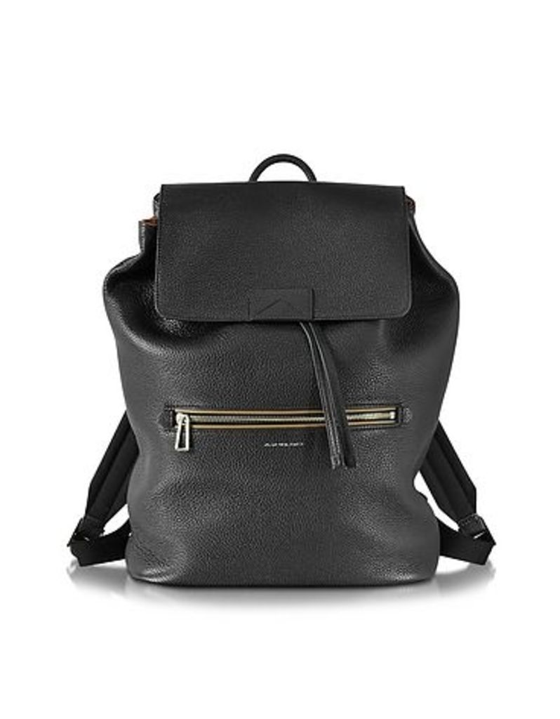 Paul Smith - Black Hammered Leather Men's Backpack