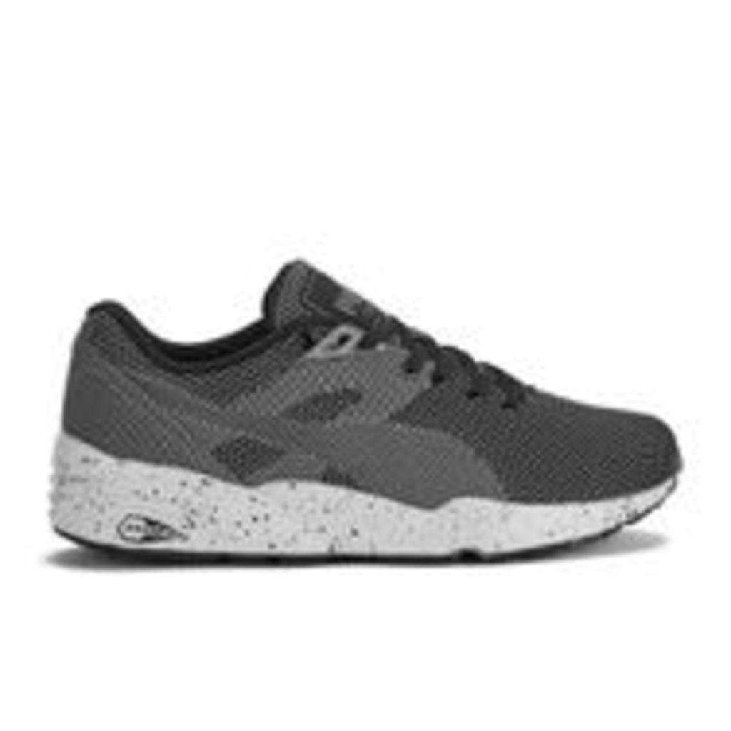 Puma Men's Running R698 Knit Mesh V2 Low Top Trainers - Black - UK 11