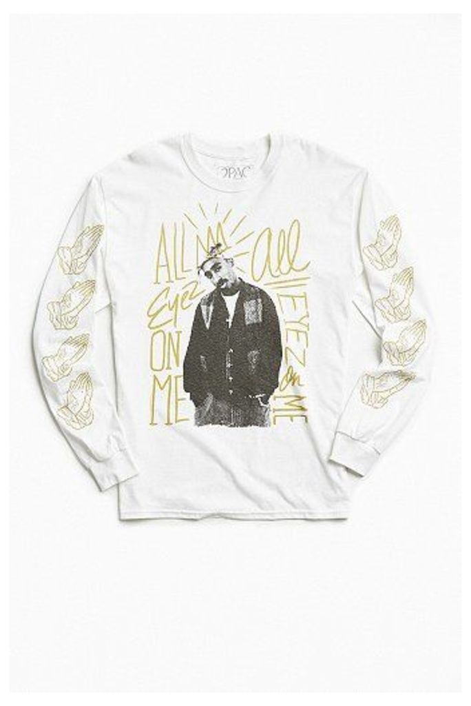 2Pac All Eyez On Me Long Sleeve T-shirt, White