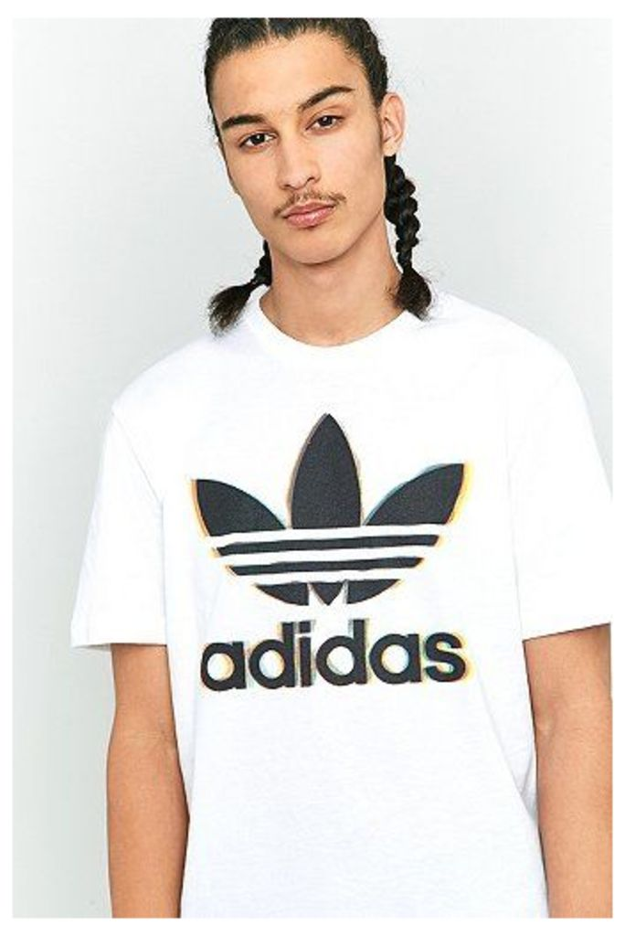 adidas Originals Trefoil 5 White T-shirt, White