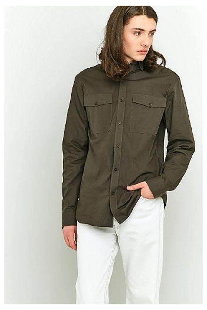 Selected Homme Olive Long-Sleeve Shirt, Khaki