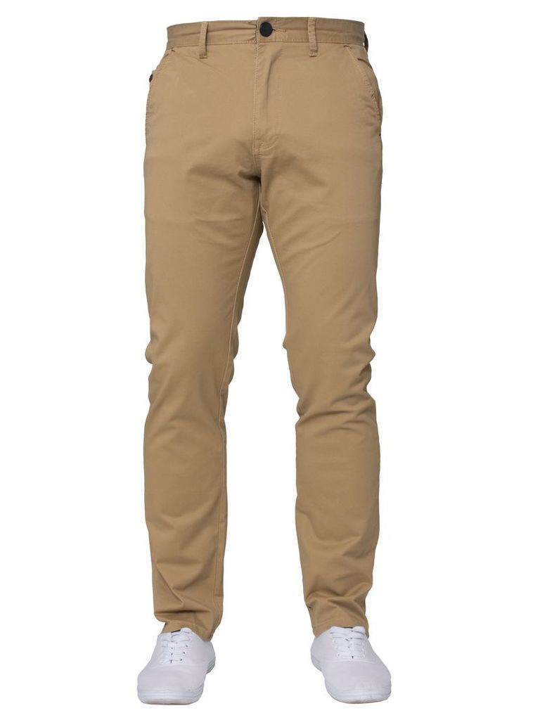 Mens Tapered Fit Chinos Stone