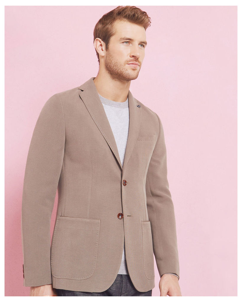 Ted Baker Textured tencel jacket Taupe