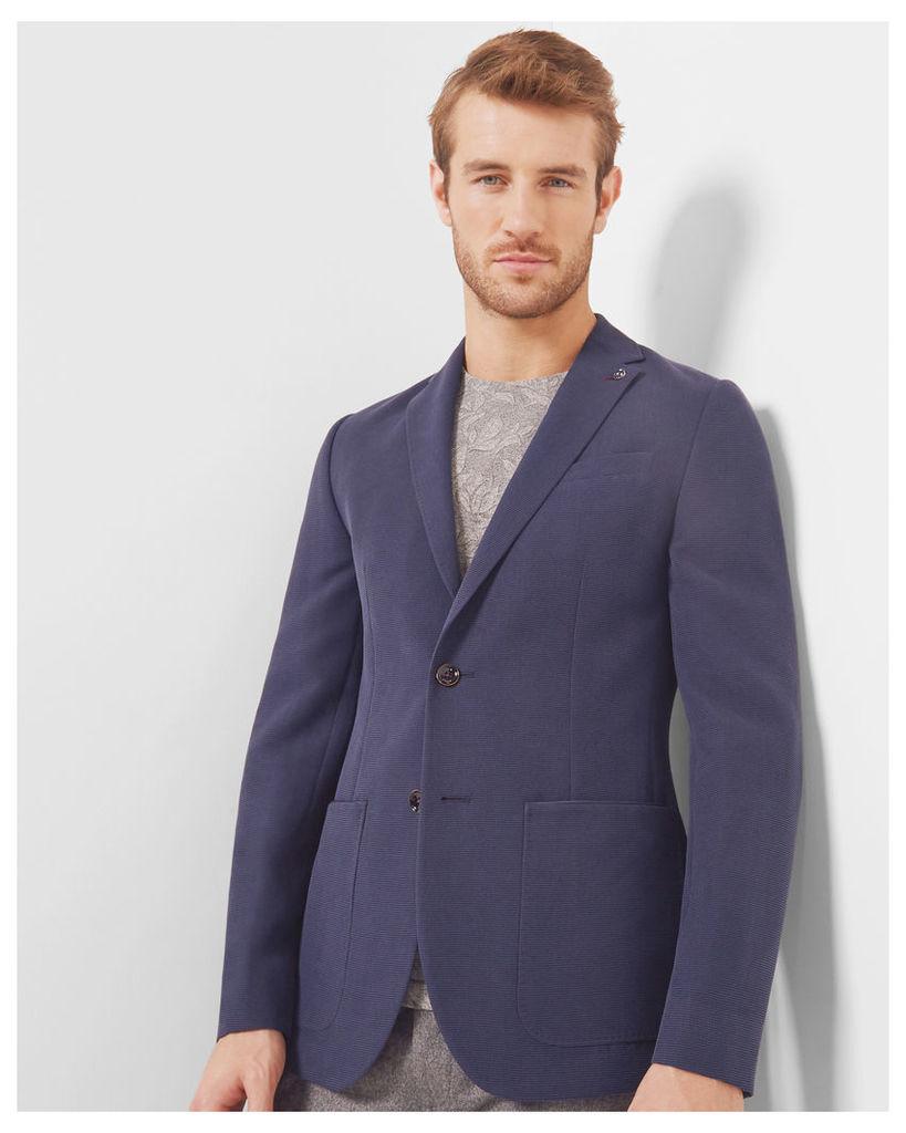 Ted Baker Textured tencel jacket Navy