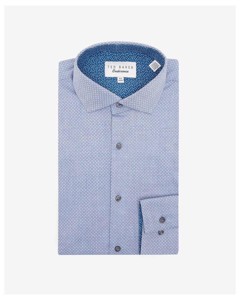 Ted Baker Geo pattern cotton shirt Navy