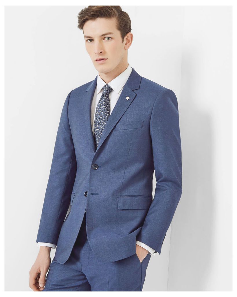 Ted Baker Debonair textured wool jacket Blue
