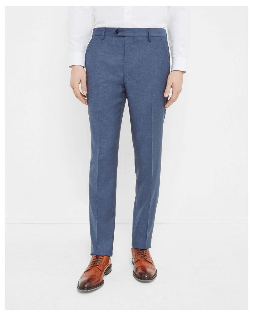 Ted Baker Debonair textured wool trousers Blue
