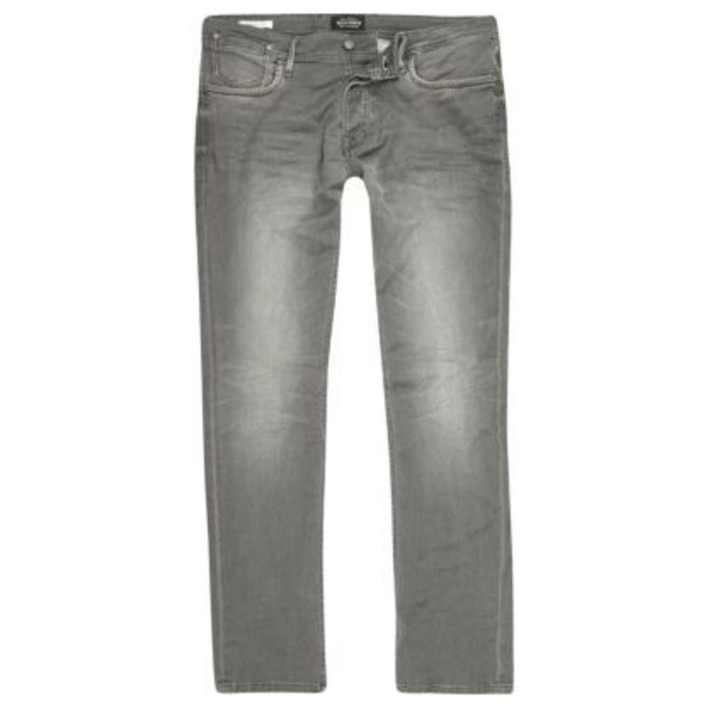 River Island Mens Grey Jack & Jones slim fit jeans