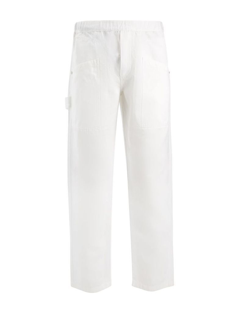 Linen Cotton Angus Trouser in White