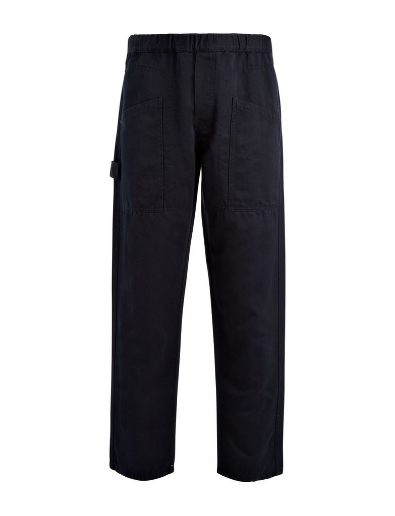 Linen Cotton Angus Trouser in Navy