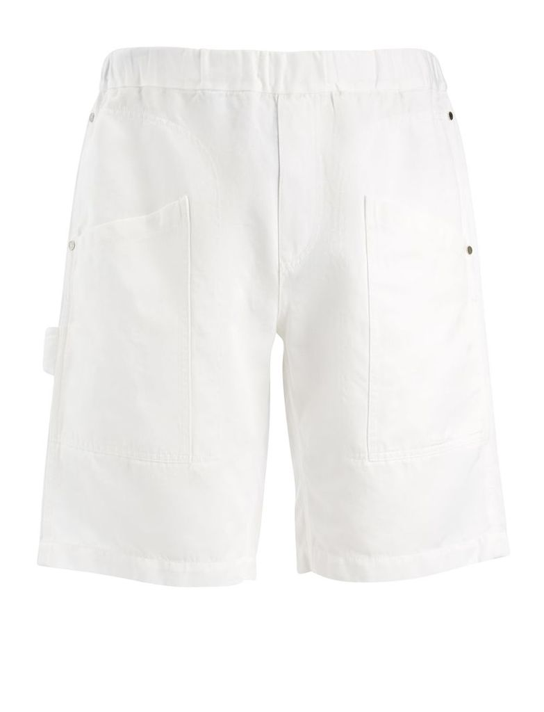Linen Cotton Angus Shorts in White