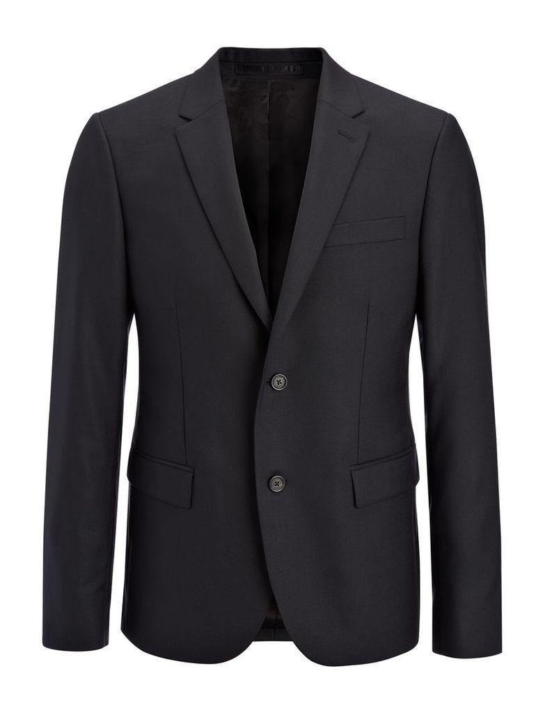 Tropical Wool Davide Jacket in Black