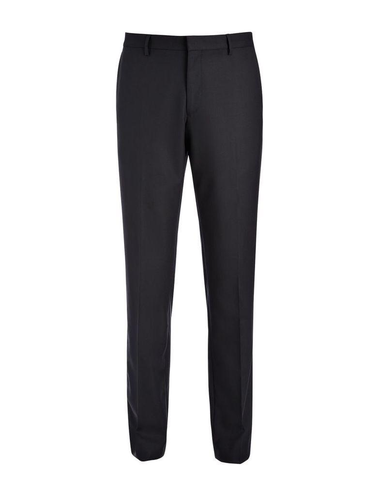 Tropical Wool Darwin Trousers in Black