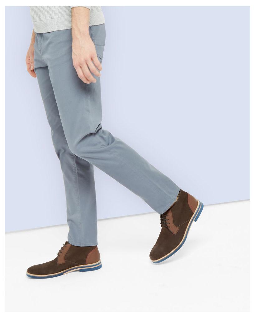 Ted Baker Five pocket cotton trousers Light Blue