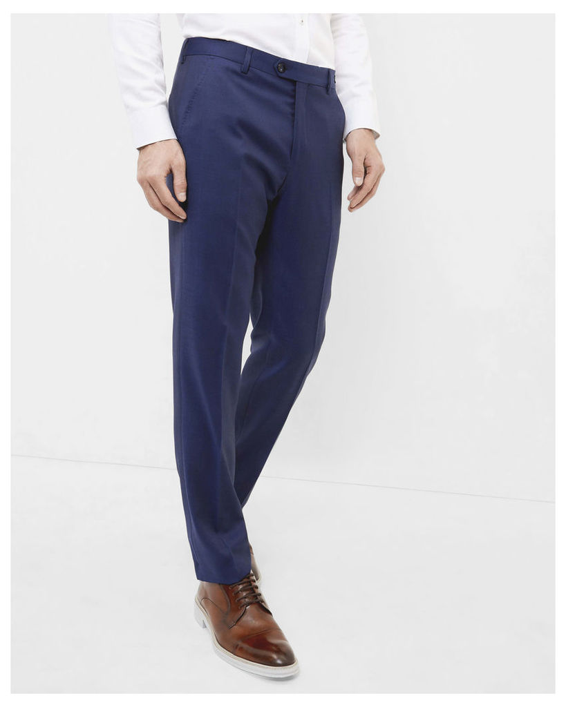 Ted Baker Debonair fashion fit wool trousers Navy