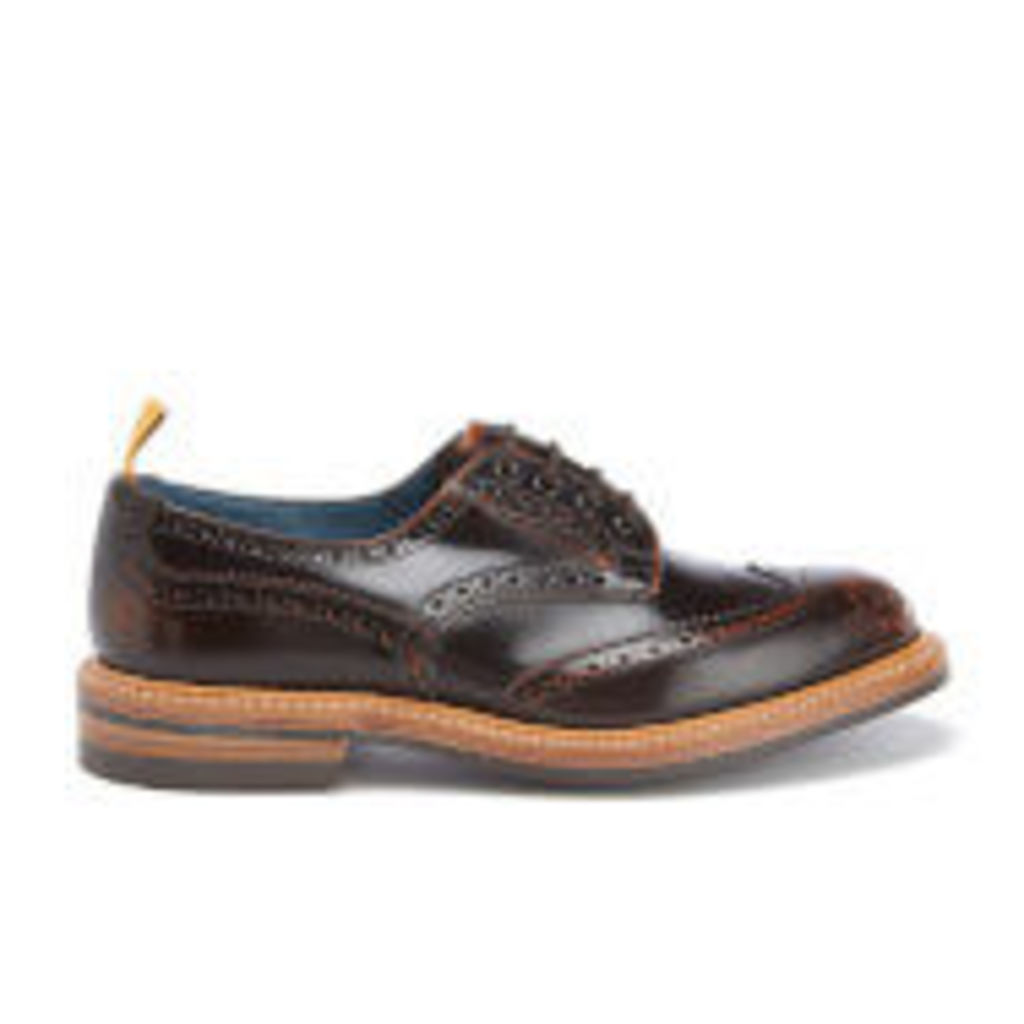 Tricker's Men's Bourton Revival Leather Brogues - Brown Rub Off - UK 10