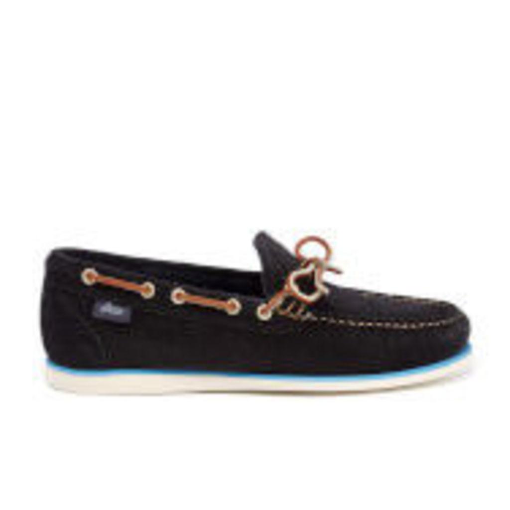 Bass Weejuns Men's Camp Moc Lite Decker Suede Boat Shoes - Navy - UK 8