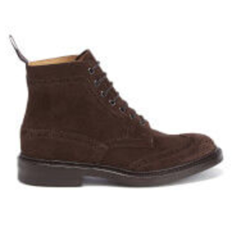 Tricker's Men's Stow Suede Lace Up Boots - Coffee - UK 7