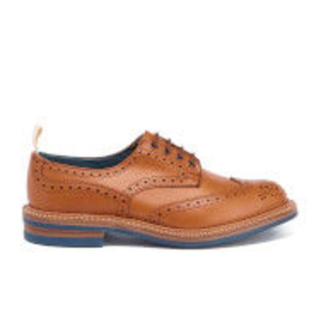Tricker's Men's Bourton Revival Leather Brogues - Acorn/Blue Sole - UK 9